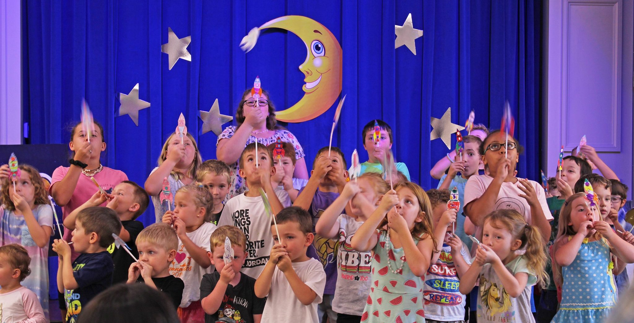 Summer Reading Global Launch where children got to launch their rockets