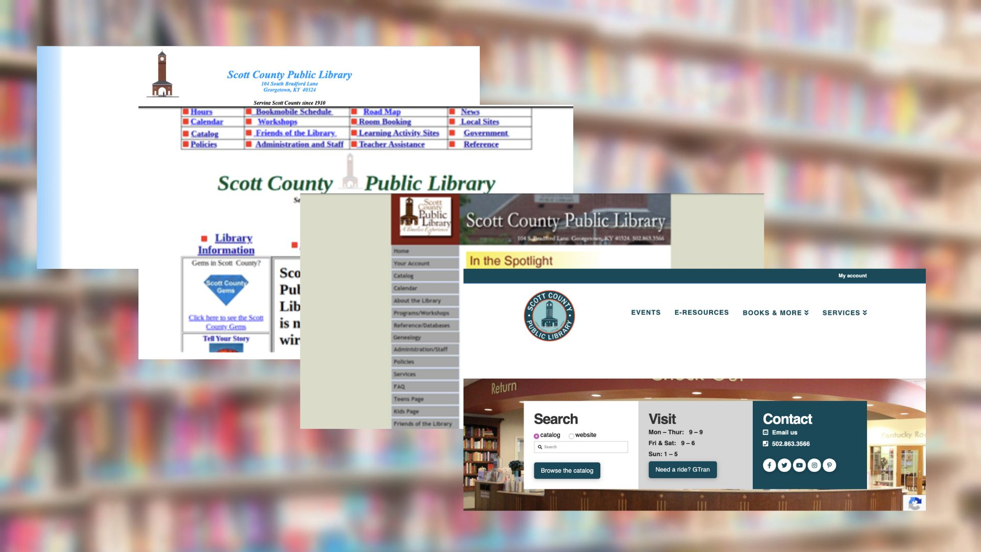 SCPL Websites from the Past
