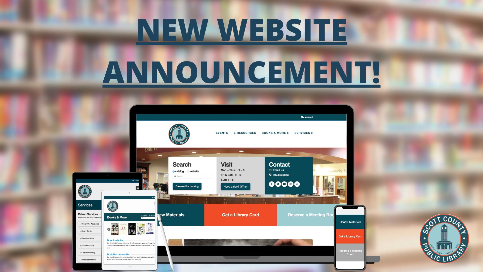 New Website Announcement from SCPL
