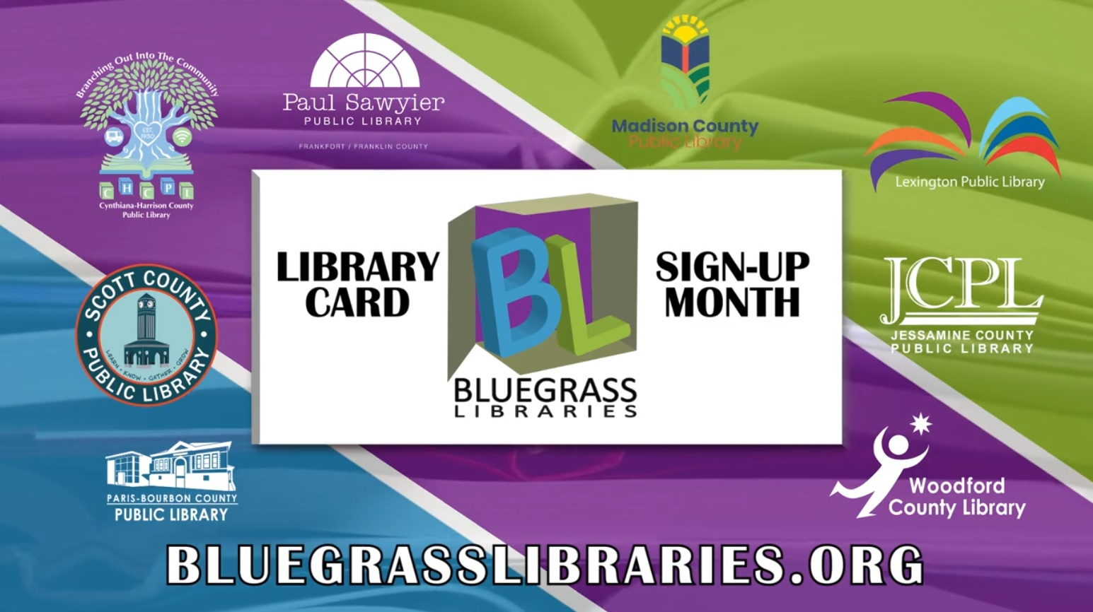 Bluegrass Libraries Library Card Sign Up Month Promo Image