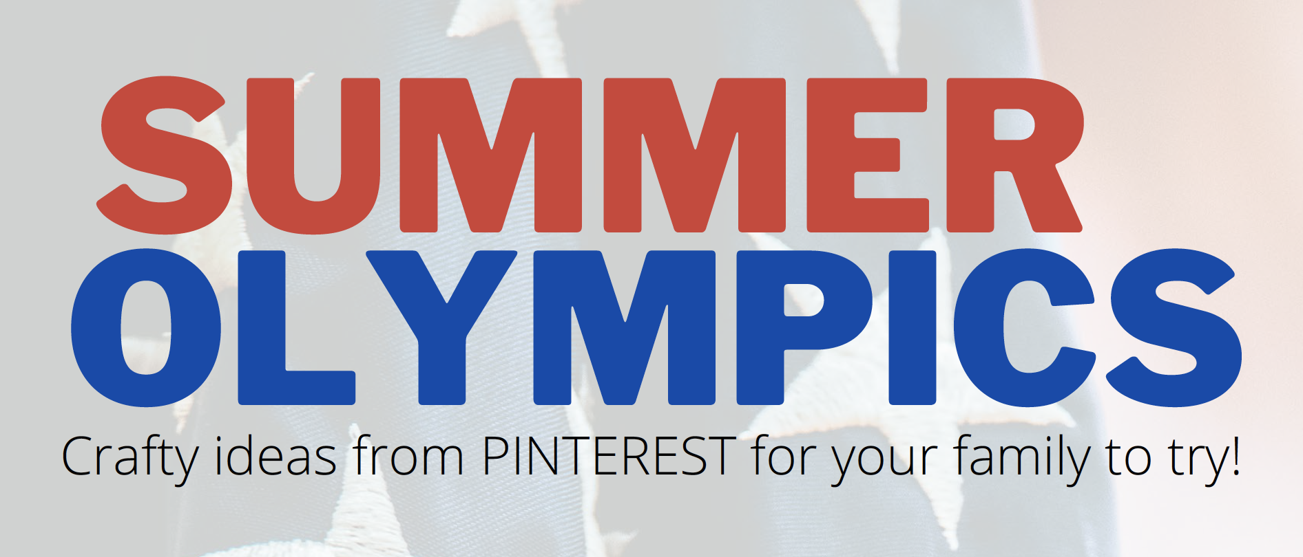 Feature image for summer olympics crafts at home